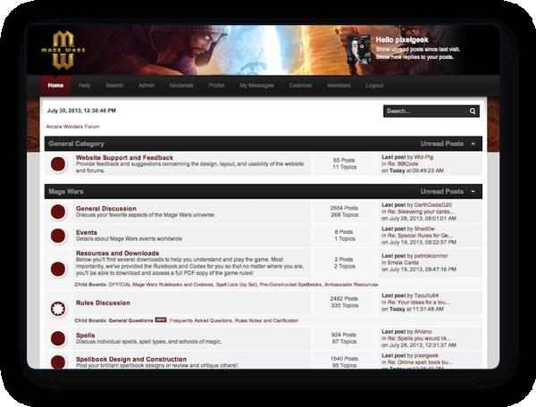 Mage Wars forum