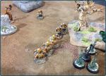 The Orcs line up for the attack