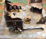 Flanking horsemen