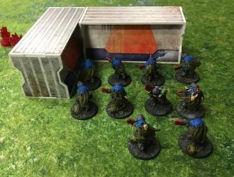 Ghar Rebels guard a safe spot