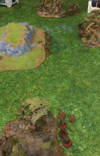 Long line of troops